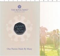 Изображение Подарочные монеты Великобритания 50 пенсов 2020 Медно-никель UNC Многонациональная Бр