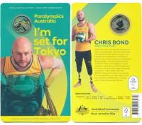 Изображение Подарочные монеты Австралия 1 доллар 2020 Латунь UNC Паралимпийские игры