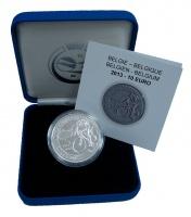 Изображение Подарочные монеты Бельгия 10 евро 2013 Серебро Proof 100 лет тура Фландри