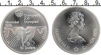 Изображение Монеты Канада 10 долларов 1976 Серебро UNC Елизавета II. XXI Ле