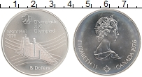 Изображение Монеты Канада 5 долларов 1976 Серебро UNC Елизавета II. XXI Ле