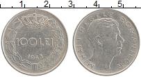 Изображение Монеты Румыния 100 лей 1943 Медно-никель XF Михай I