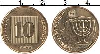 Изображение Монеты Израиль 10 агор 2010 Латунь UNC-