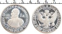 Изображение Монеты Мальтийский орден 1 цехин 1965 Посеребрение Proof- UNUSUAL.Орден Иоанна