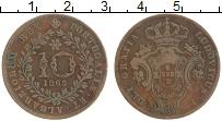 Изображение Монеты Азорские острова 10 рейс 1865 Медь VF Луиш I