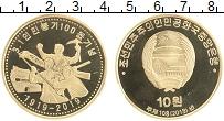 Изображение Монеты Северная Корея 10 вон 2019 Медь Proof 100-летие Мартовског