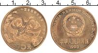 Изображение Монеты Китай 5 юаней 1993 Бронза UNC Панда