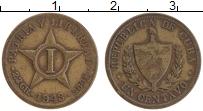 Изображение Монеты Куба 1 сентаво 1943 Латунь XF-