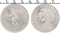Изображение Монеты Мексика 25 песо 1968 Серебро UNC- XIX Летние Олимпийск