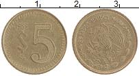 Изображение Монеты Мексика 5 песо 1985 Латунь XF