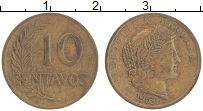 Изображение Монеты Перу 10 сентаво 1963 Латунь XF-