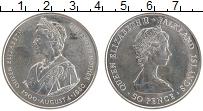 Изображение Монеты Фолклендские острова 50 пенсов 1980 Медно-никель UNC- 80 лет Королеве-мате