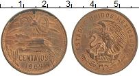 Изображение Монеты Мексика 20 сентаво 1969 Бронза XF