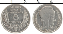 Изображение Монеты Франция 5 франков 1933 Медно-никель XF