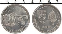 Изображение Монеты Португалия 200 эскудо 1995 Медно-никель UNC Открытие Австралии