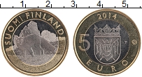 Изображение Монеты Финляндия 5 евро 2014 Биметалл UNC Исторические провинц
