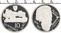 Продать Монеты Словакия 10 евро 2009 Серебро
