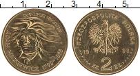 Изображение Монеты Польша 2 злотых 1998 Латунь UNC Адам Мицкевич