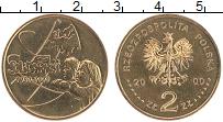 Изображение Монеты Польша 2 злотых 2000 Латунь UNC Солидарность