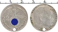 Изображение Монеты Третий Рейх 2 марки 1938 Серебро VF D. Пауль фон Гинденб