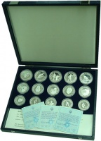 Изображение Подарочные монеты Югославия Олимпиада в Сараево 1984 года 0 Серебро Proof
