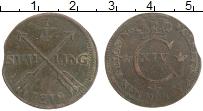 Изображение Монеты Швеция 1/4 скиллинга 1819 Медь VF Карл XIV