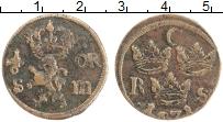 Изображение Монеты Швеция 1/6 эре 1671 Медь VF Кристина