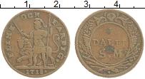 Изображение Монеты Швеция 1 далер 1718 Медь XF-