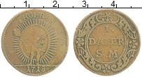 Изображение Монеты Швеция 1 далер 1718 Медь VF Феб