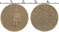 Изображение Монеты Швеция 1 далер 1718 Медь XF- Марс