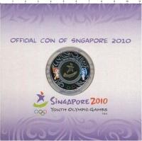 Изображение Подарочные монеты Сингапур 2 доллара 2010 Биметалл UNC Летние юношеские оли