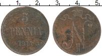 Изображение Монеты Финляндия 5 пенни 1911 Медь VF