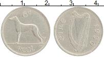 Изображение Монеты Ирландия 6 пенсов 1950 Медно-никель XF
