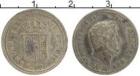 Изображение Монеты Сицилия 10 грани 1844 Серебро XF Фердинанд II