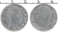 Изображение Монеты Италия 20 чентезимо 1943 Медно-никель UNC- Виктор Эммануил III