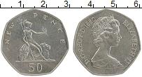 Изображение Монеты Великобритания 50 пенсов 1980 Медно-никель UNC- Елизавета II