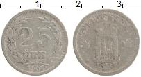 Изображение Монеты Швеция 25 эре 1907 Серебро XF- Оскар II