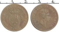 Изображение Монеты Дания 2 скиллинга 1809 Медь XF Фредерик VI