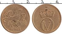 Изображение Монеты Норвегия 2 эре 1970 Бронза XF Олаф V