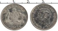 Изображение Монеты Австралия 6 пенсов 1941 Серебро XF Георг VI