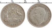 Изображение Монеты Австралия 6 пенсов 1942 Серебро XF Георг VI