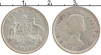 Изображение Монеты Австралия 6 пенсов 1959 Серебро XF Елизавета II