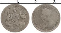 Изображение Монеты Австралия 3 пенса 1912 Серебро VF Георг V