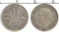 Изображение Монеты Австралия 3 пенса 1940 Серебро XF Георг VI