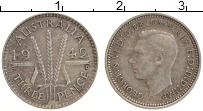 Изображение Монеты Австралия 3 пенса 1942 Серебро XF Георг VI