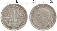 Изображение Монеты Австралия 3 пенса 1943 Серебро XF Георг VI