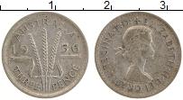 Изображение Монеты Австралия 3 пенса 1956 Серебро XF Елизавета II