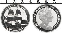 Изображение Монеты Виргинские острова 1 доллар 2020 Серебро Proof Корабль Мэйфлауэр