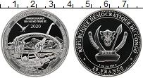 Изображение Монеты Конго 20 франков 2020 Серебро Proof Мамэньсизавр