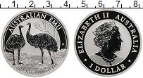 Изображение Монеты Австралия 1 доллар 2019 Серебро Proof Страус Эму